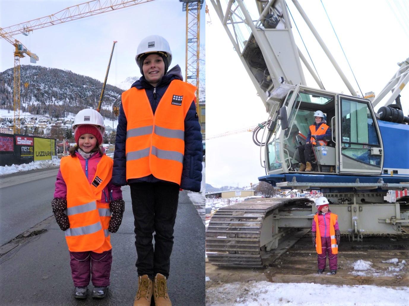 Kleine Gäste auf der Porta Baustelle